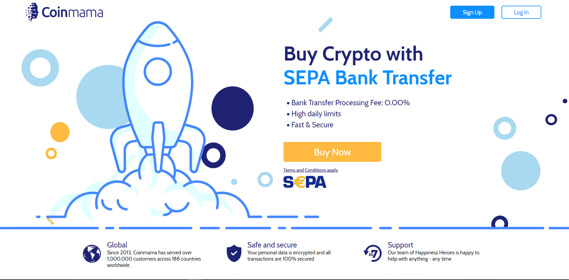 Buy crypto with SEPA bank transfer